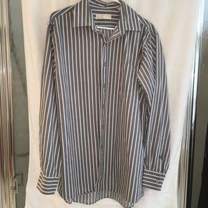Men's MICHAEL KORS Gray Dress Shirt 16 1/2 34/35